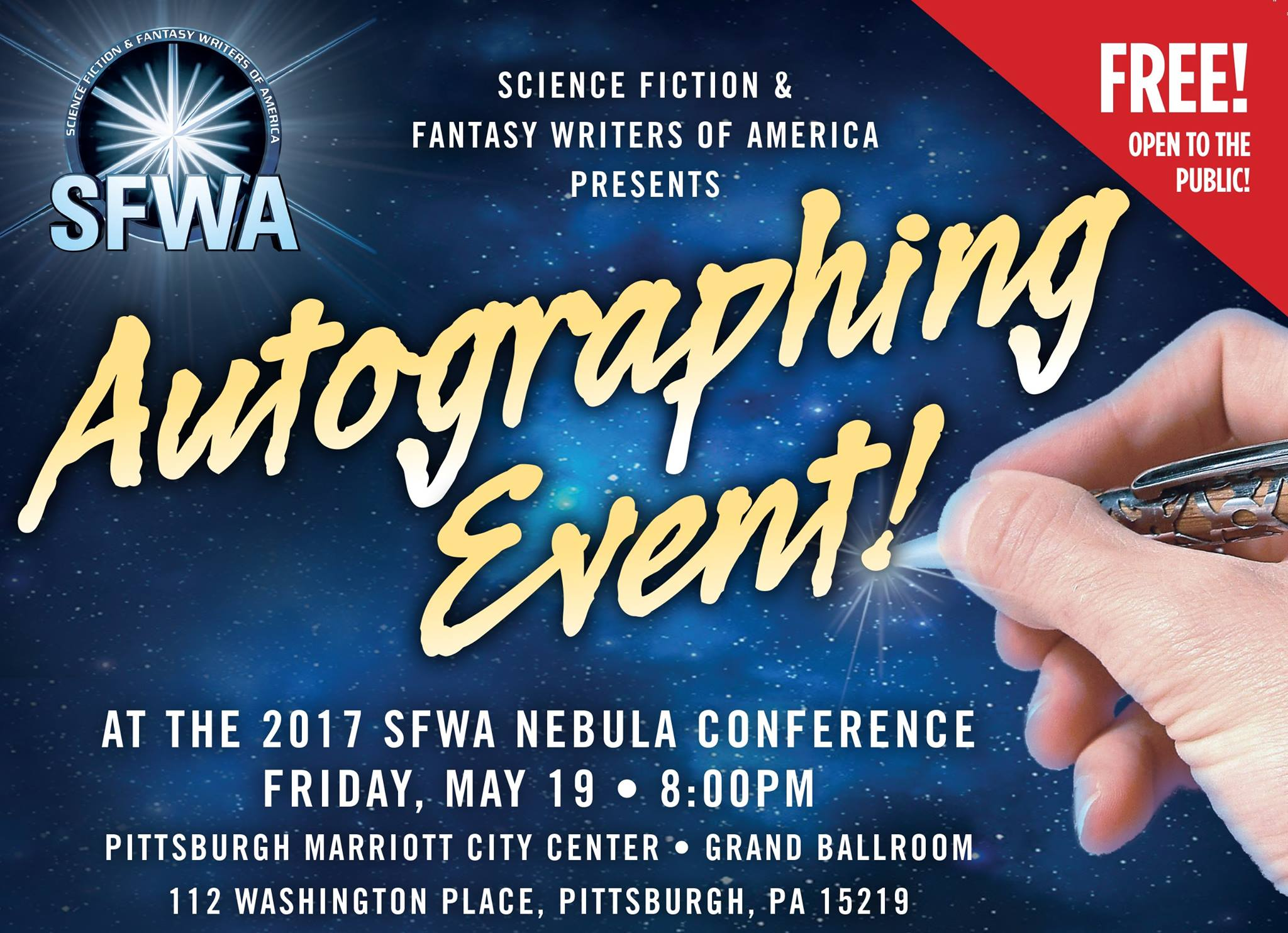 SFWA Mass Autographing Event